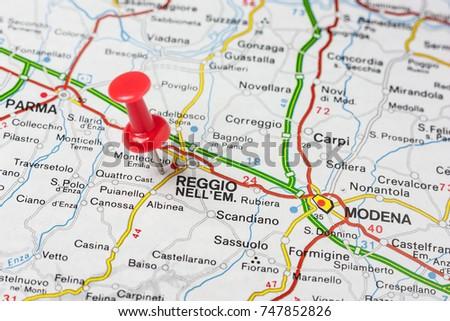 Road Map City Piacenza Italy Stock Photo 710310133 Shutterstock