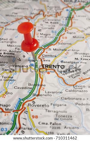 Road Map City Trento Italy Stock Photo 710311462 Shutterstock