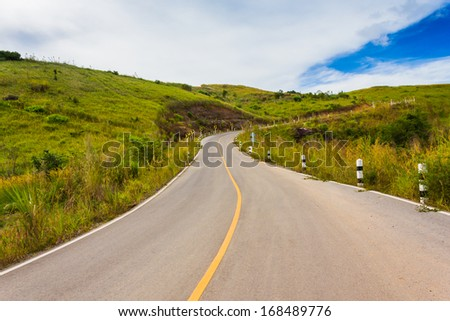 road mountains in nature