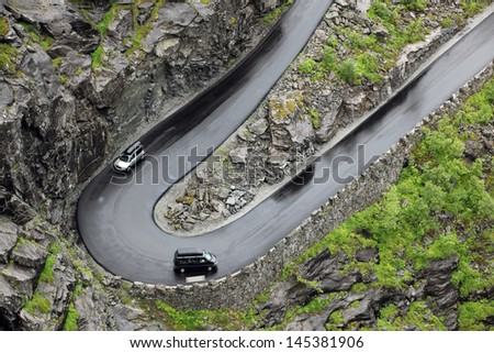 Road of the Trolls in Norway Mt - stock photo