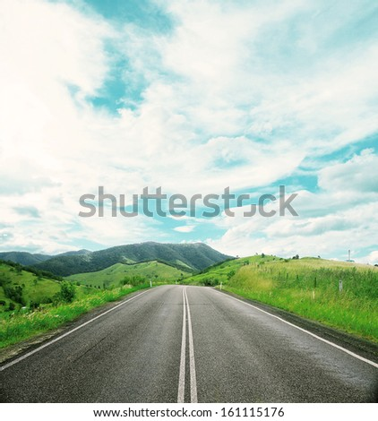road on a beautiful summer landscape