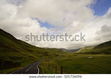 Road on mountain