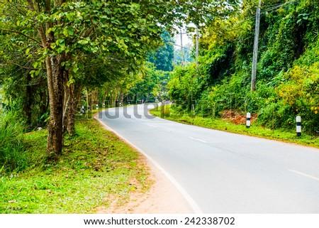Road on mountain, Thailand - stock photo