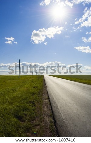 Road perspective - stock photo