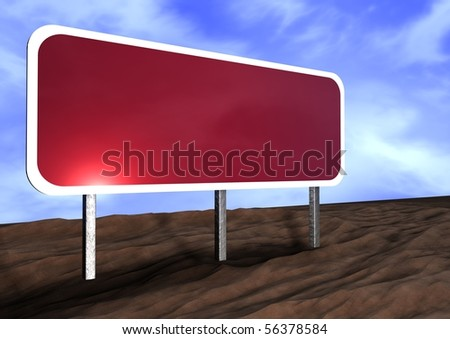Road sign concept, empty to be designed with your own words - stock photo
