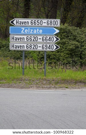 Road sign in Ghent