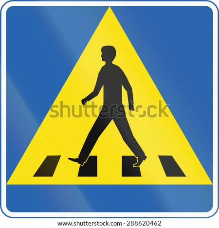Road sign in Iceland - Pedestrian crossing