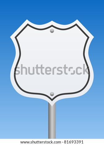 Road Sign - Interstate - stock photo