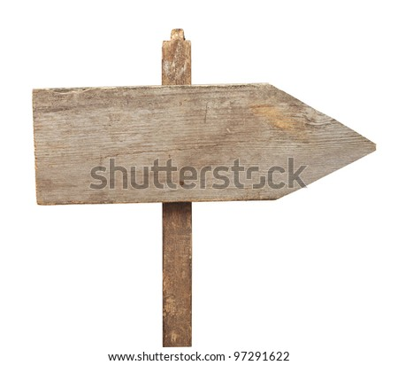road sign isolated on a white background - stock photo