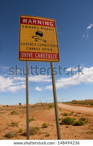 road sign outback australia