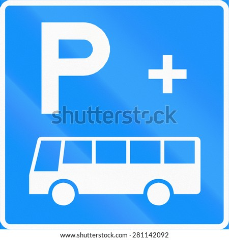 Road sign 520 - Park and Ride facilities - stock photo