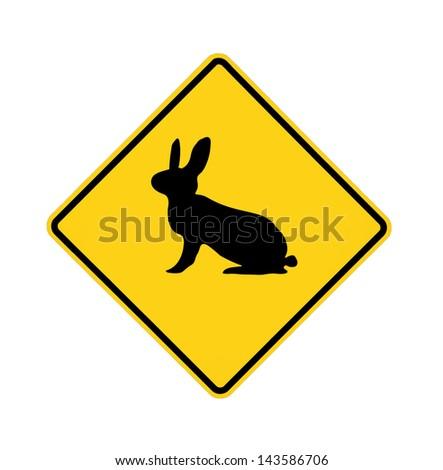 Cross Roads Sign Road Sign Rabbit Crossing