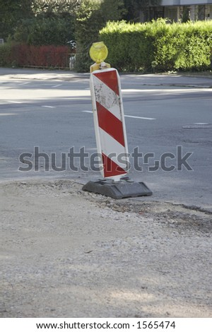 road sign - Road works