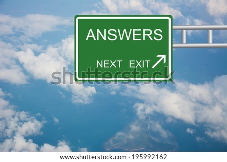 Road sign to answers