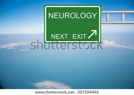 Road sign to NEUROLOGY - stock photo