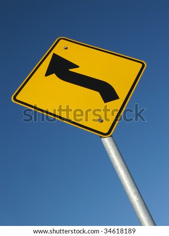Road sign - turn