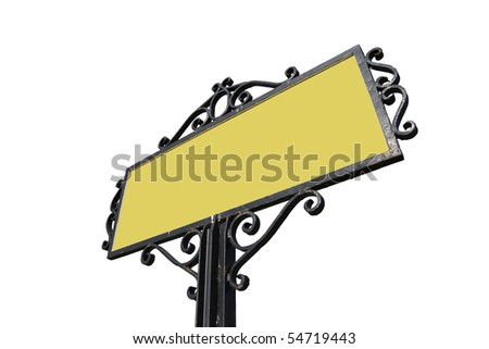 Road sign with clipping paths - stock photo