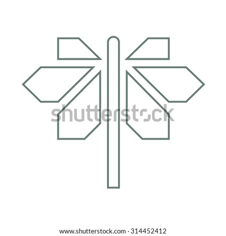 road sign with different directions icon - stock photo