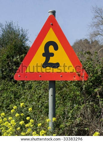 Road Sign with Pound