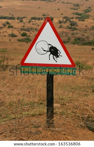 Road Signs, Bug Crossing warning, South Africa