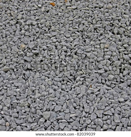 Road stone gravel to background - stock photo