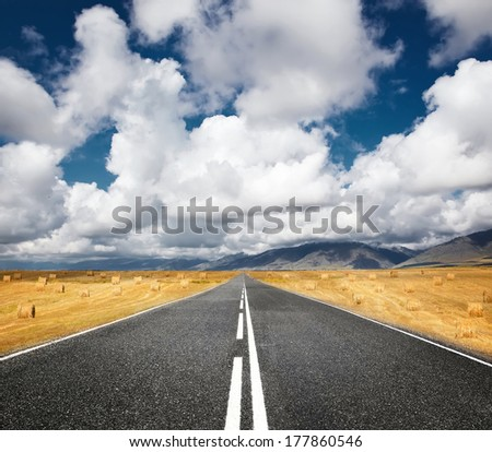 road through wheat field