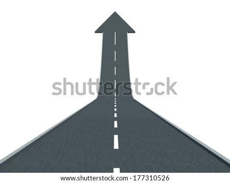 Road to financial success rise to the top and moving up - stock photo