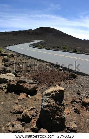 road to healakea - stock photo
