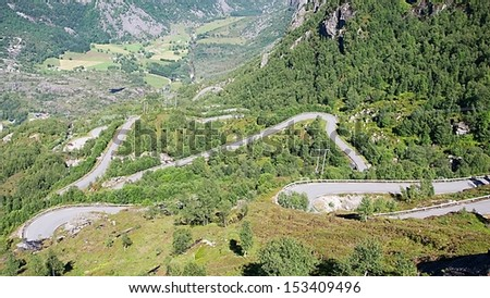 Road to Kjerag mountain, Norway - stock photo