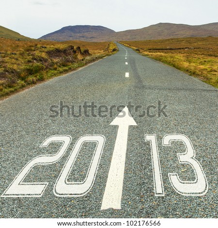 Road to New Year 2013 - stock photo
