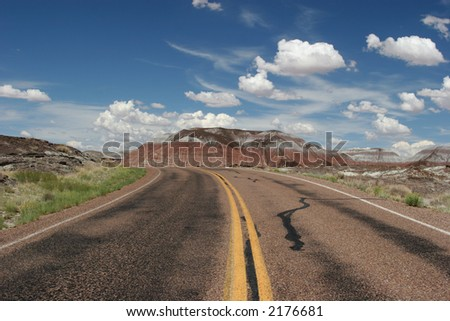 Road to painted desert
