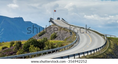 Road to the clouds - stock photo