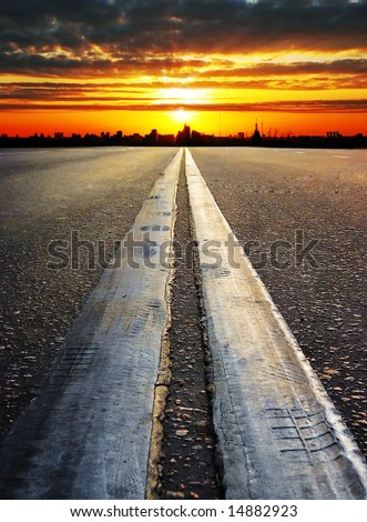 Road to the future. - stock photo