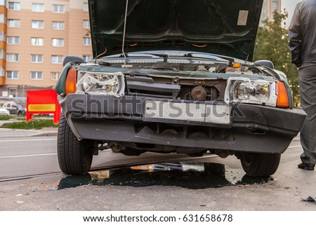 Road Traffic Accident Old Car Crash Stock Photo (Safe to Use ...