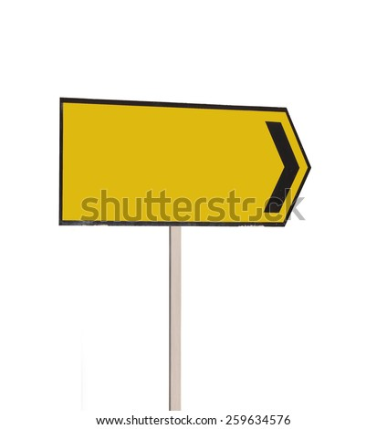 Road Traffic Sign on white background