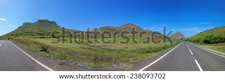 Road trip on island of Sao Nicolau, Cape Verde (Cabo Verde), Africa - stock photo