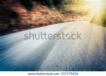 Road Winding Through mountain in  china. - stock photo