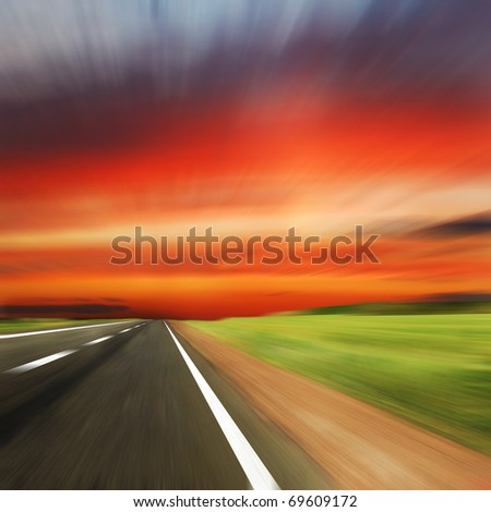 road with blur  sky