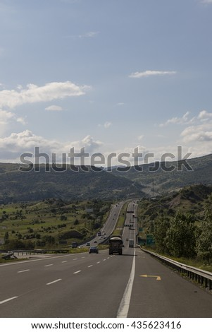 Road with Green Landscape in Anatolia, Turkey