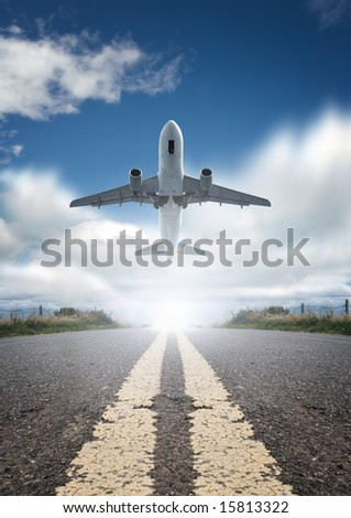 Roads and planes. - stock photo
