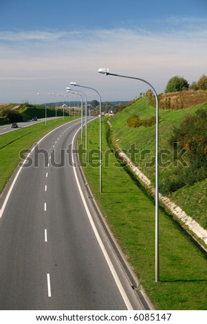 roads, city exit... time to rest - stock photo