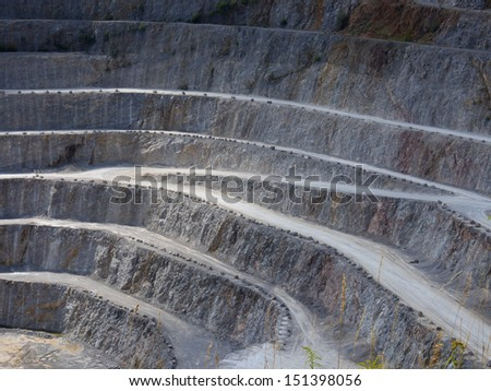 Roads in a quarry - stock photo