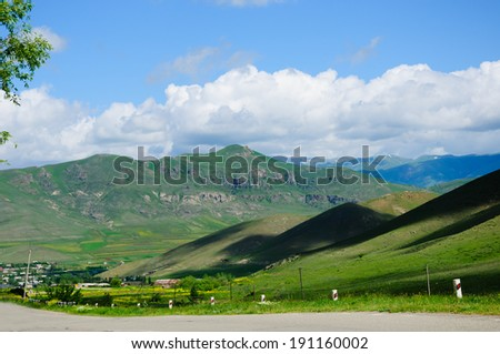 Roadside landscape  - stock photo