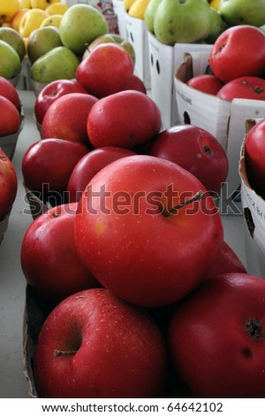 Roadside Stand Apples - stock photo