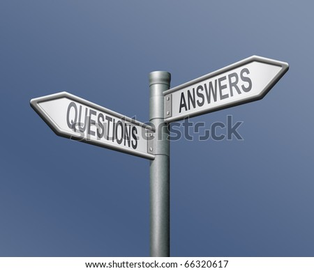 roadsign with two arrows answers and questions