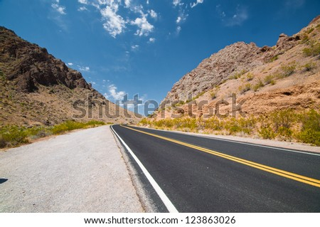 roadway through desert
