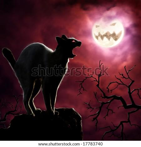 Roaring Halloween - stock photo