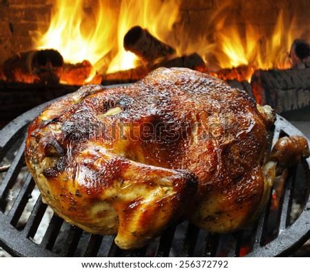 roast chicken - stock photo