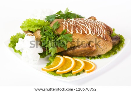 Roast duck with orange