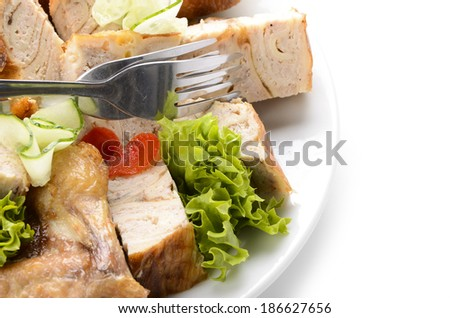 roast meat set cutting